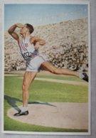 Foto Cromo Olimpiada De Los Ángeles. 1932. Nº 49. USA, Anderson. Lanzamiento De Disco. Hecho En 1936 Olimpiada De Berlín - Tarjetas