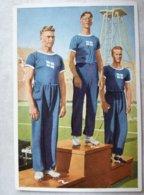 Foto Cromo Olimpiada De Los Ángeles. 1932. Nº 52. Finlandia, Matti Jarvinen, Sippala, Penttila. Hecho En 1936 Berlín - Tarjetas