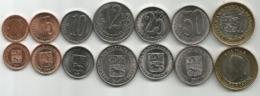 Venezuela 2007/09. Complete Set Of 7 High Grade Coins - Venezuela
