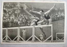 Foto Cromo Olimpiada De Los Ángeles. 1932. Nº 84. Atletismo, Finlandia, Achilles Jarvinen, Salto De Vallas. Hecho Berlín - Tarjetas