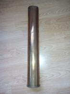 1 DOUILLE 1944 WW2 DE 76mm US MARINE AMERICAINE + 2 DOUILLES 1914 WW1 DE 37mm CHAR FRANCAIS - Decorative Weapons