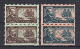 1957 Poland Polen Pologne : Mi.1043-1044, Fi. 898 - 899, Paare O Gestempelt , Joseph Conrad Korzeniowski, S. Scan - 1944-.... Republik
