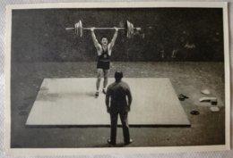 Foto Cromo Olimpiada De Los Ángeles. 1932. Nº 159. Halterofilia, Francia, Louis Hostin. Hecho En 1936 Olimpiada Berlín - Tarjetas