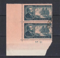 1957 Poland Polen Pologne : Mi.1044, Fi. 899, Paar O Gestempelt , Joseph Conrad Korzeniowski, S. Scan - 1944-.... Republik