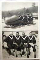 Foto Cromo Olimpiada De Los Ángeles. 1932. Nº 185. Bobsleigh, Alemania Kilian, Ludwig, Mehlhorn, Huber Hecho 1936 Berlín - Tarjetas