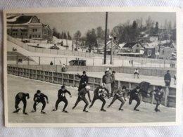 Foto Cromo Olimpiada De Los Ángeles. 1932. Nº 193. Carrera Patinaje 10.000 M, Alemania Irving Jaffee. Hecho 1936 Berlín - Tarjetas