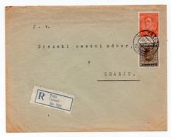 1930 KINGDOM OF YUGOSLAVIA, SLOVENIA, TRZIC TO KRANJ, REGISTERED MAIL - 1931-1941 Royaume De Yougoslavie