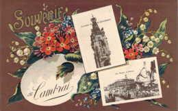 59 NORD Souvenir Multivues à La Palette De Fleurs De CAMBRAI - Cambrai