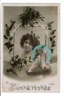 CPA-Carte Postale-France-Bonne Année -une Jeune Femme Avec Un Fer à Cheval  VM8700 - Nouvel An
