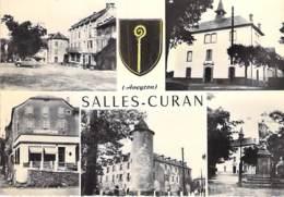 12 - SALLES CURAN : Jolie Multivues - CPSM Village (1.050 Habitants) Dentelée Noir Blanc Grand Format 1964 - Aveyron - France