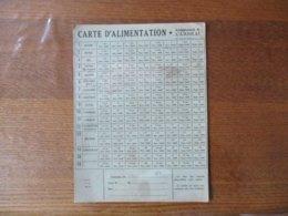 CARTE D'ALIMENTATION ARRONDISSEMENT DE CAMBRAI SEPTEMBRE 1940 A DECEMBRE 1940 - Historische Dokumente