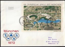 Germany Bonn 1972 / Olympic Games Munich / Olympic Village, Lake, Stadium, Hall, Tower / FDC - Ete 1972: Munich