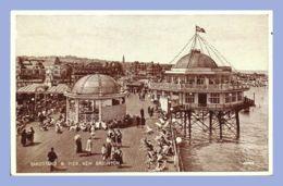 CPSM - New Brighton (USA) - Sandstand & Pier - New Britain