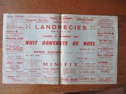 LANDRECIES SAMEDI 21 DECEMBRE 1963 NUIT DANSANTE DE NOÊL ORGANISEE PAR L'USL AVEC HENRI DUPONT 44cm/26cm - Plakate