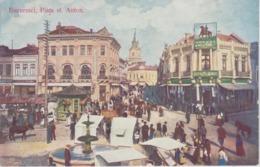 CPA Bucuresci - Piata Sf. Anton. (très Belle Animation) - Romania