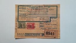 Bulletin D'expédition -1953 - PLOMBIERE ST. MARCEL à CHAMBERY - 200f 60f - - Poste Aérienne