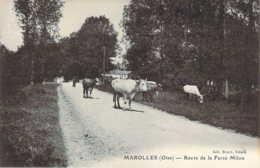 60 OISE Troupeau De Vaches Route De La Ferté-Milon à MAROLLES - Other Municipalities