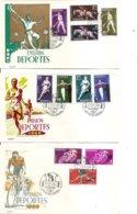Espagne - Sports ( 4 FDC De 1960 à Voir) - FDC