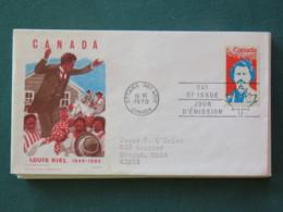 Canada 1970 FDC Cover To USA - Louis Riel - 1952-.... Elizabeth II