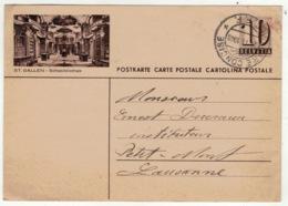 Suisse // Schweiz // Switzerland //  Entier Postaux // Entier Postal Pour Petit Mont 23.11.1948 (image St.Gallen) - Interi Postali