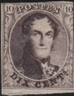Belgie      .    OBP     .    3    (2 Scans)    .         (*)      .     Geen Gom   .   /   .  Pas De Gomme - 1849-1850 Medallions (3/5)