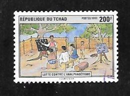 TIMBRE OBLITERE DU TCHAD DE 1992 N° MICHEL 1222 - Chad (1960-...)