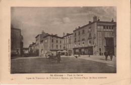 SAINT GIRONS  PLACE DU CENTRE LIGNE TRAMWAYS - Saint Girons
