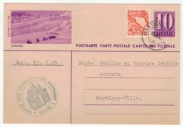 Suisse // Schweiz // Switzerland //  Entier Postaux // Entier Postal Pour Martigny Le 10.06.1941 (image Arosa) - Interi Postali