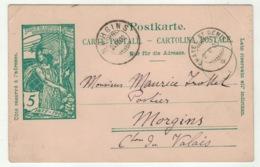 Suisse // Schweiz // Switzerland //  Entier Postaux // Entier Postal Pour Morgins Le 2.06.1900 - Entiers Postaux
