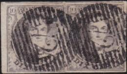 Belgie      .    OBP     .   10A  Paar    .         O     .     Gebruikt   .   /   .   Oblitéré - 1858-1862 Medallions (9/12)