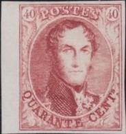Belgie      .    OBP     .   12   Herdruk    .        (*)     .     Geen Gom  .   /   .    Pas De Gomme - 1858-1862 Medallions (9/12)
