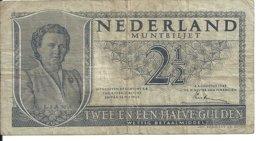 PAYS-BAS 2 1/2 GULDEN 1949 VF P 73 - [2] 1815-… : Regno Dei Paesi Bassi