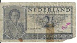 PAYS-BAS 2 1/2 GULDEN 1949 VG P 73 - [2] 1815-… : Regno Dei Paesi Bassi