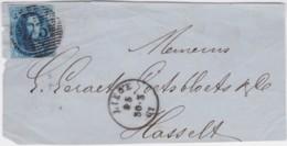 Belgie      .    OBP     .   11A  Op Pagina    ( 2 Scans)     .         O     .     Gebruikt   .   /   .   Oblitéré - 1858-1862 Medallions (9/12)