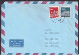 Deustche Bundespost - 1967 - Brief -> Argentinien - BRD