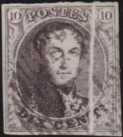 Belgie      .    OBP     .   6  Accordeon Vouw      .         O     .     Gebruikt   .   /   .   Oblitéré - 1851-1857 Médaillons (6/8)