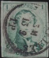 Belgie      .    OBP     .     9  (2 Scans)      .         O     .     Gebruikt   .   /   .   Oblitéré - 1858-1862 Medallions (9/12)