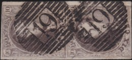 Belgie      .    OBP     .     10 Paar      .         O     .     Gebruikt   .   /   .   Oblitéré - 1858-1862 Medaillen (9/12)