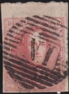 Belgie      .    OBP     .     12  (2 Scans)      .         O     .     Gebruikt   .   /   .   Oblitéré - 1858-1862 Medaillons (9/12)