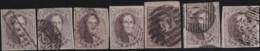 Belgie      .    OBP     .     10  7x      .         O     .     Gebruikt   .   /   .   Oblitéré - 1858-1862 Medallions (9/12)