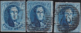 Belgie      .    OBP     .     11  3x     .         O     .     Gebruikt   .   /   .   Oblitéré - 1858-1862 Medallions (9/12)