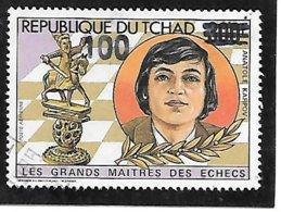 TIMBRE OBLITERE DU TCHAD SURCHARGE EN 1987 N° MICHEL 1144 RARE - Tschad (1960-...)