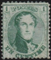 Belgie      .    OBP     .     13    .        (*)       .    Geen Gom   .   /   .  Pas De Gomme - 1863-1864 Médaillons (13/16)