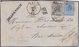 Belgie      .    OBP     .   17+18 Op Pagina         .         O     .     Gebruikt   .   /   .   Oblitéré - 1865-1866 Linksprofil