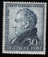 1949 15. August Goethe Mi DE 110 Sn DE B308 Yt DE-BIZ 81 Sg DE A150 Postfrisch Xx - Zone Anglo-Américaine