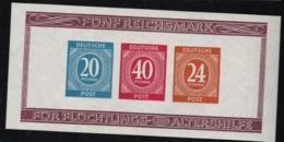 1946 8. Dez. Mi DE-TZ BL12B Sn DE B295 Yt DE-TZ BF1 ND Postfrisch Xx - American,British And Russian Zone