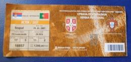 Footbal Soccer - Ticket - Serbia - Portugal / Srbija  - Portugalija - 28.03.2007 - Tickets - Entradas