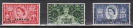 BAHRAIN Scott # 92, 94, 95 MH - QEII Coronation - GB Stamp With Overprint - Bahrain (...-1965)
