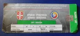 Footbal Soccer - Ticket - Serbia - Romania / Srbija - Rumunija - 10.10.2009 - Tickets - Entradas