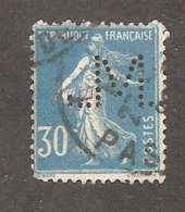 Perfin/perforé/lochung France No 192 M Sté Des Mines De Lens (7) - Gezähnt (Perforiert/Gezähnt)